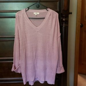Mauve Knit Hi-Low Tunic